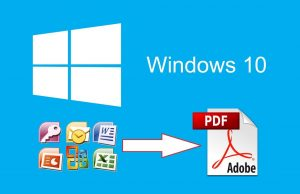 convertir documentos ofice a PDF windows 10